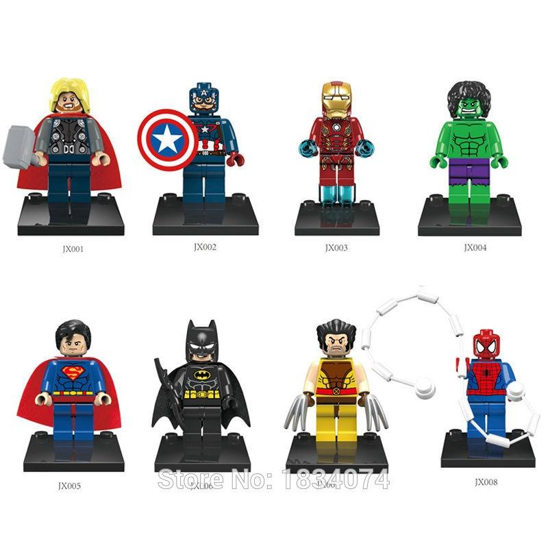 8pcs iron man  marvel  avengers minifigure  Printed lego minifigure super hero