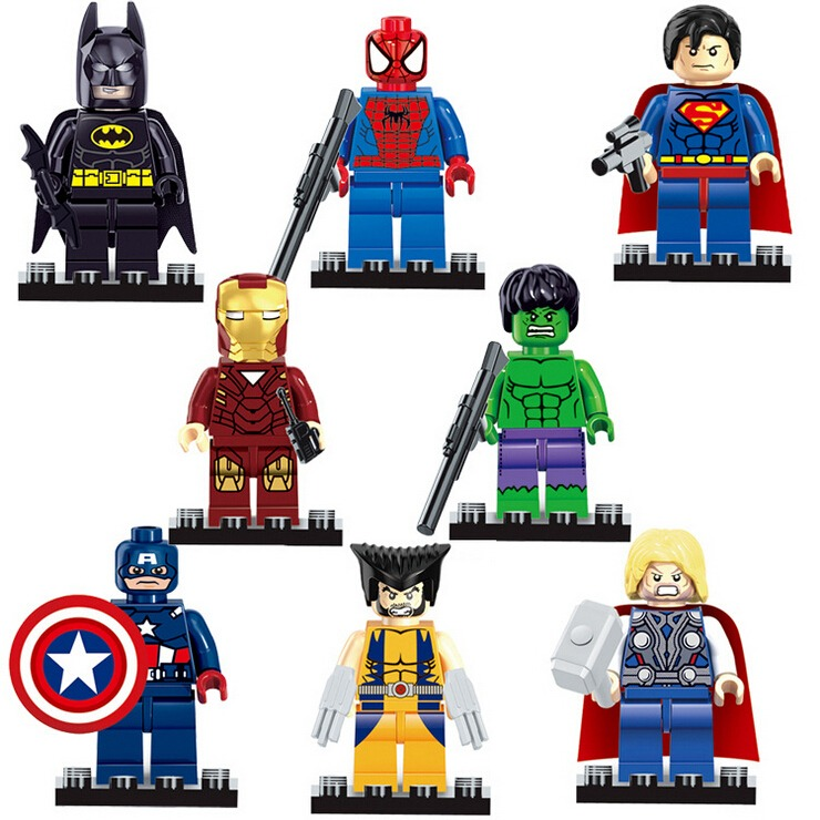8 Pcs MARVEL MINIFIGS SUPER HERO FIT LEGO XMAS 2019 AVENGERS TOY MINI FIGURES