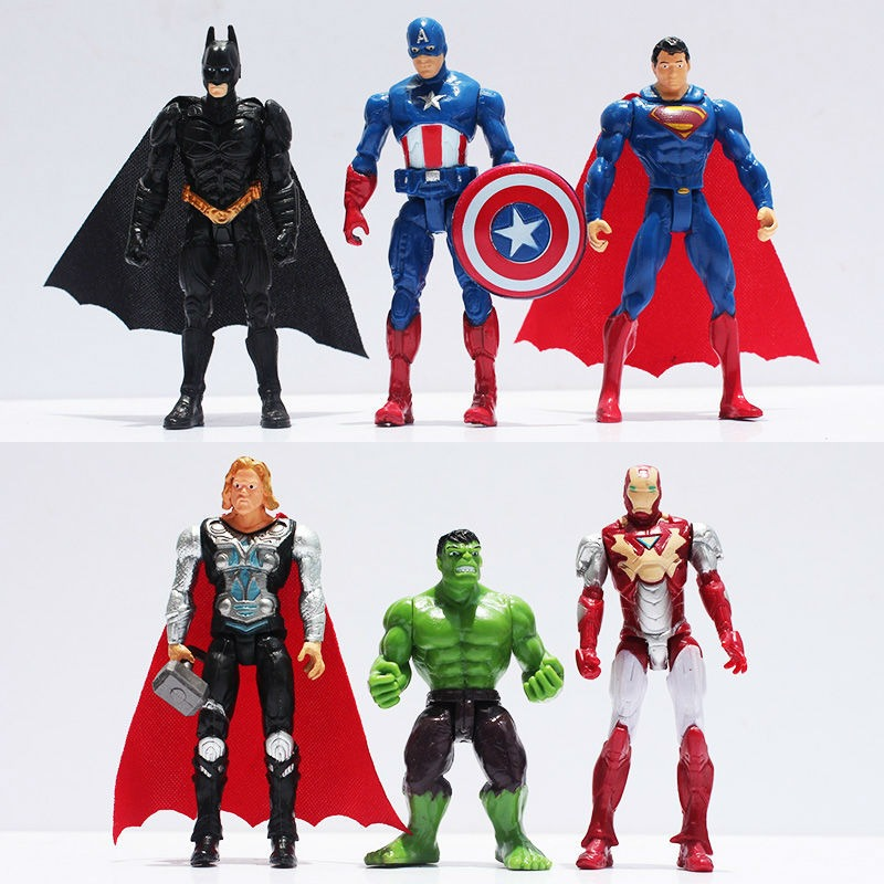 figurine Avengers iron man Hulk thor captain america superman batman 10 cm deco