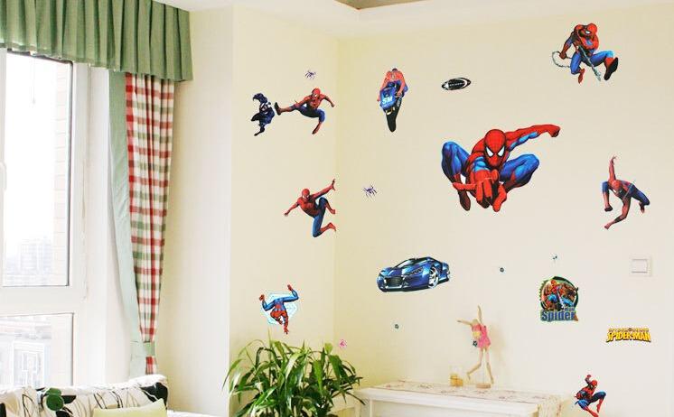 Diy Cartoon Spiderman Wall Stickers For