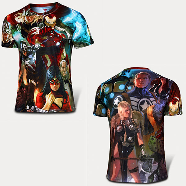 3dfbf2fe Summer Marvel The Avengers T-shirt Comics Avengers Costume Sports Fitness Shirt  Men Jersey Short Sleeve Super Hero Clothing – Super Heroes Galore
