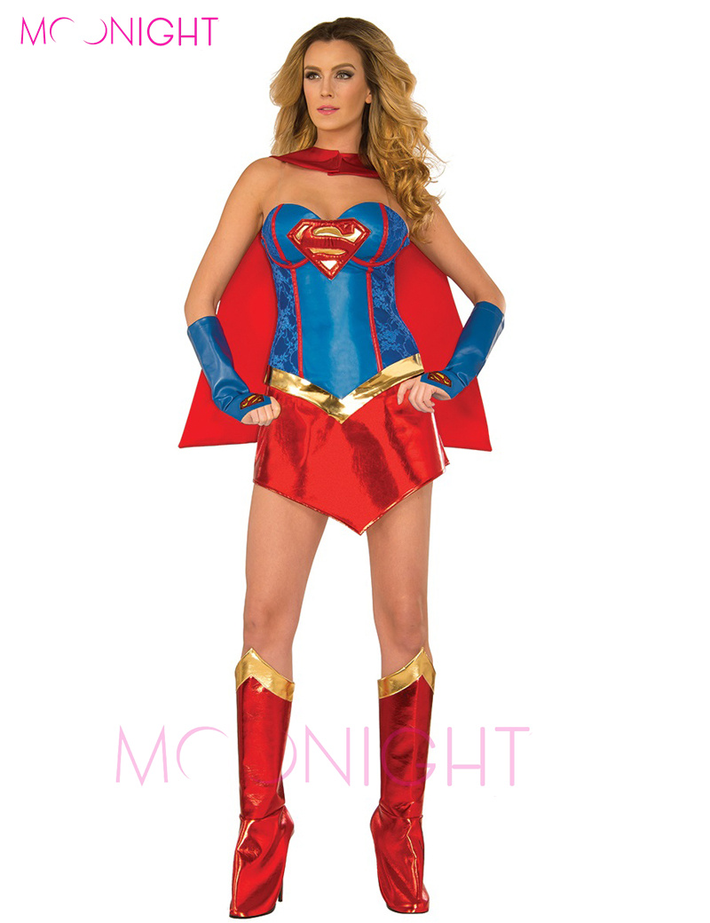 free shipping cosplay superman costume halloween costume wonder