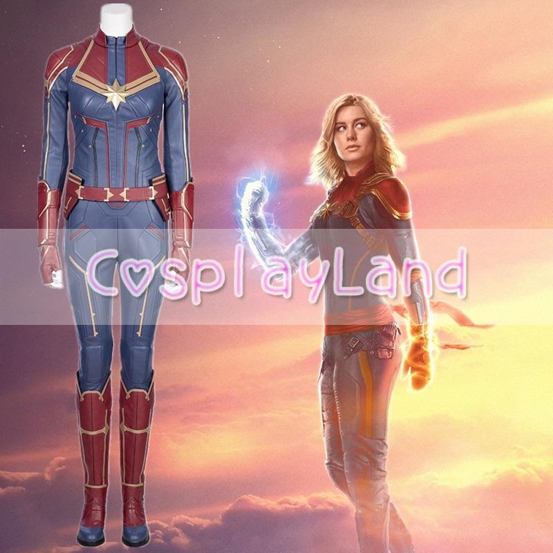Ms.Marvel Costume Captain Marvel Carol Danvers Cosplay Jumpsuit Superhero Outfit