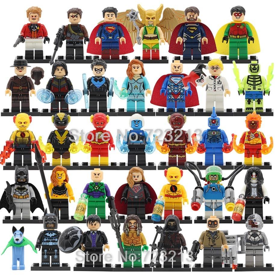 9 Pcs SET FIT LEGO DC MARVEL SUPER HEROES MINI FIGURES BUILDING BLOCKS TOY 2019