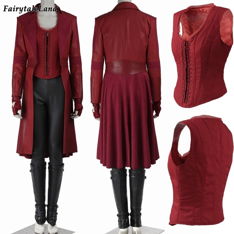 Infinity War Avengers 3 Scarlet Witch Dress Cosplay Costume Halloween Avengers